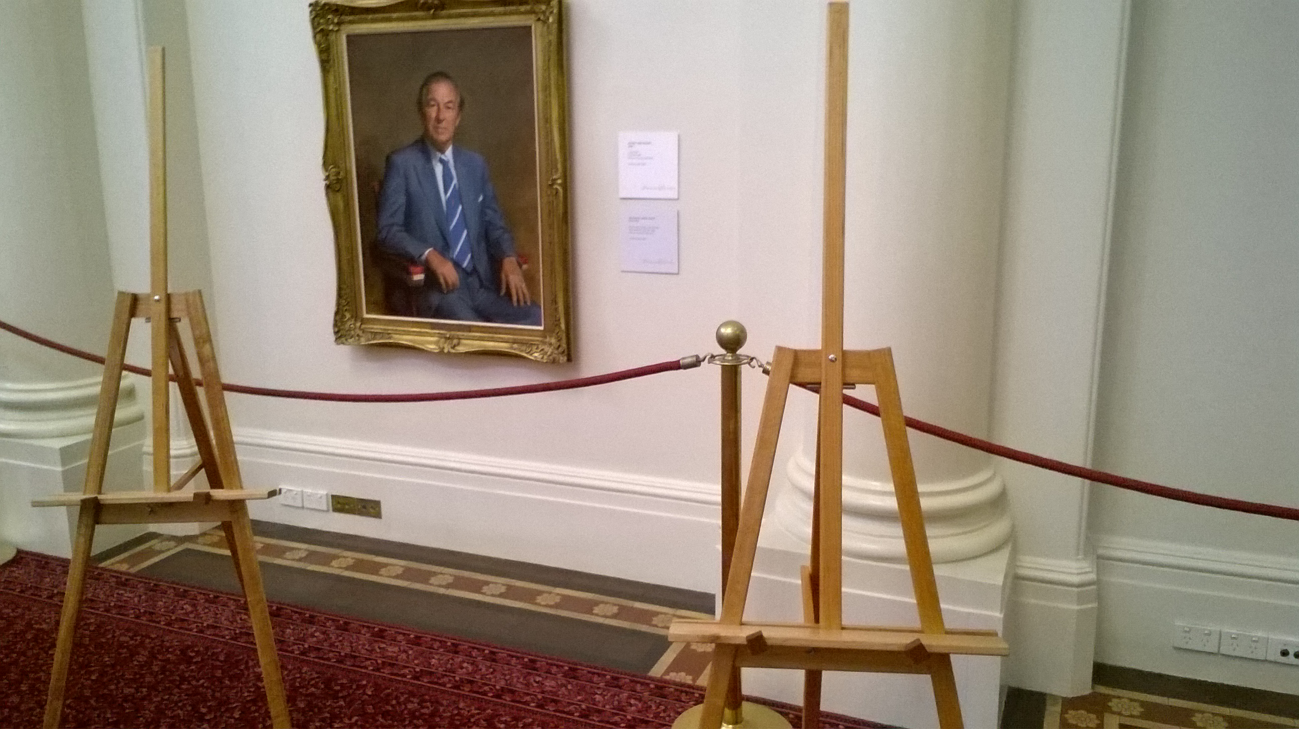 Art Show Partitioning easels at Queen's Hall, Parliament House, Melbourne